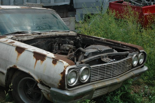 junk yard tours stripping a 64 impala. Black Bedroom Furniture Sets. Home Design Ideas