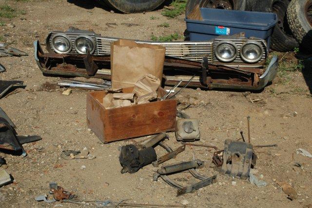 Junk yard tours, Stripping a 64 Impala.